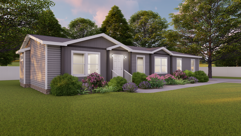 The THE FRANKLIN XL Exterior. This Manufactured Mobile Home features 4 bedrooms and 2 baths.