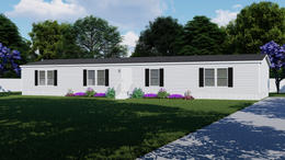 The TANZANITE Exterior. This Manufactured Mobile Home features 4 bedrooms and 2 baths.