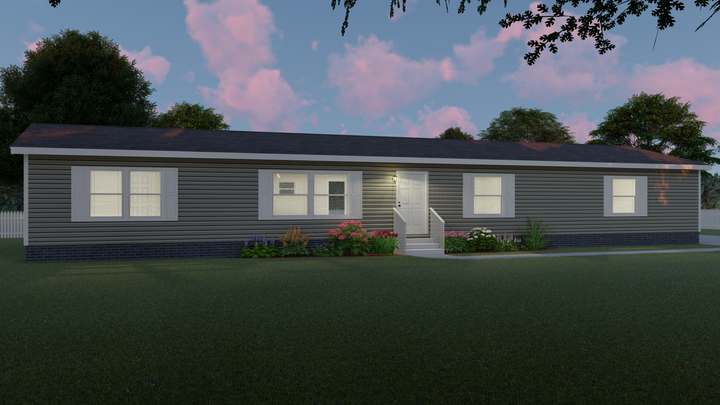 The ULTRA PRO 76 Exterior. This Manufactured Mobile Home features 4 bedrooms and 2 baths.