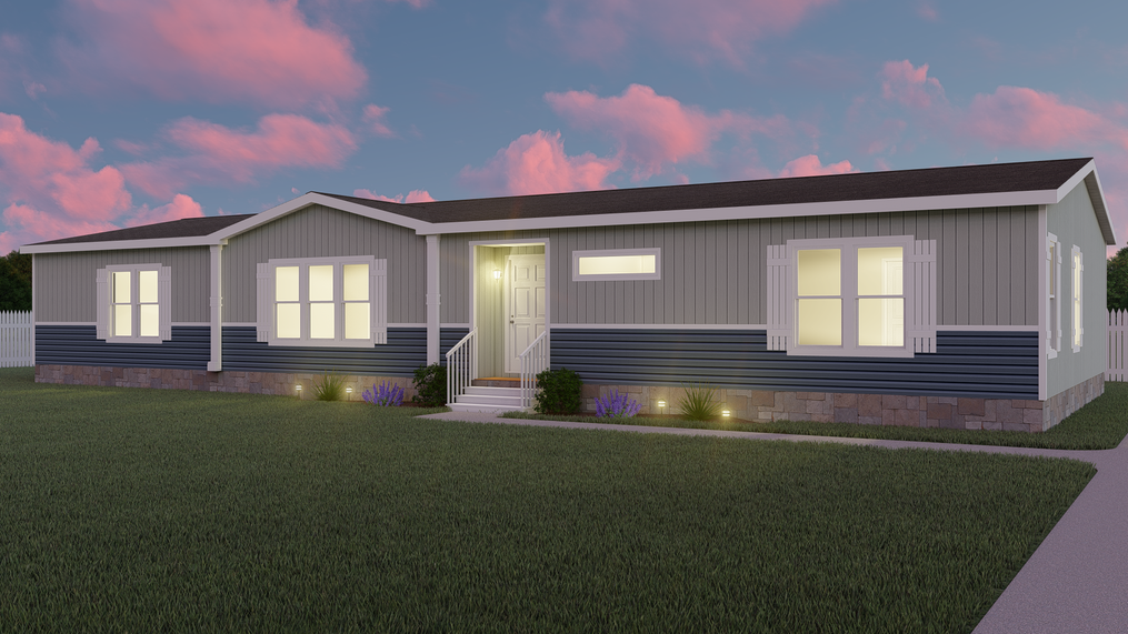 The THE JACKSON Exterior. This Manufactured Mobile Home features 3 bedrooms and 2 baths.