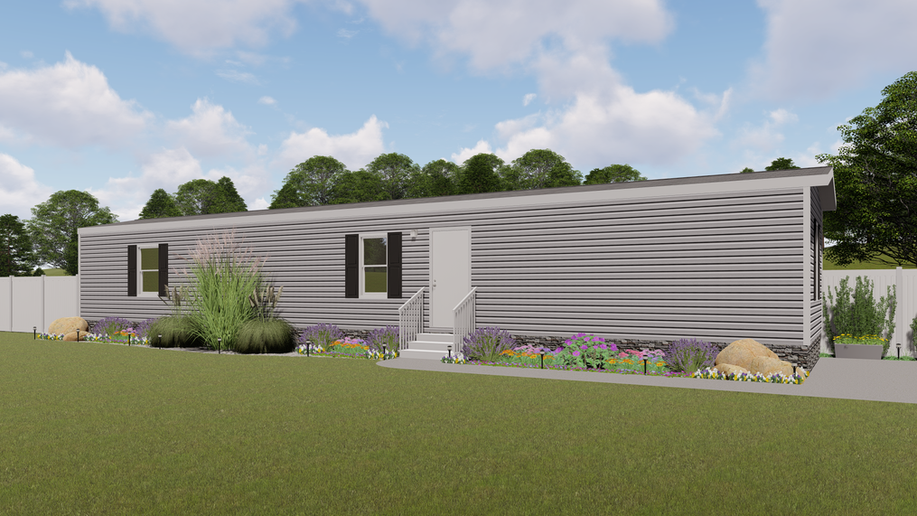 The ELATION Exterior. This Manufactured Mobile Home features 3 bedrooms and 2 baths.