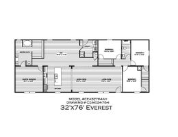 The EVEREST Exterior. This Manufactured Mobile Home features 4 bedrooms and 2 baths.