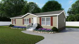 The TRADITION 48 Exterior. This Manufactured Mobile Home features 3 bedrooms and 2 baths.