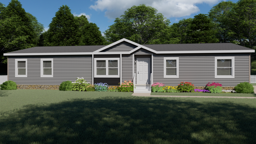 The THE CASCADE Exterior. This Manufactured Mobile Home features 4 bedrooms and 2 baths.