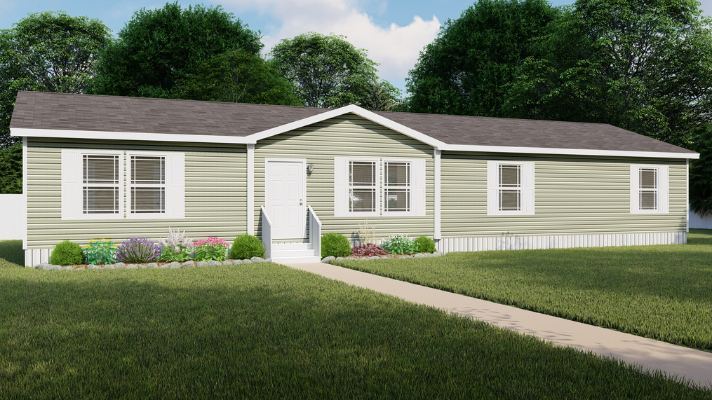 The SANTA FE 684A Exterior. This Manufactured Mobile Home features 4 bedrooms and 2 baths.