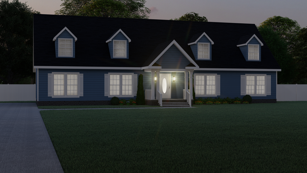 The 3549 JAMESTOWN Exterior. This Modular Home features 3 bedrooms and 2 baths.