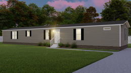 The THE ANNIVERSARY 18 4 BR Exterior. This Manufactured Mobile Home features 4 bedrooms and 2 baths.