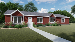 The CERISE Exterior. This Manufactured Mobile Home features 4 bedrooms and 2 baths.