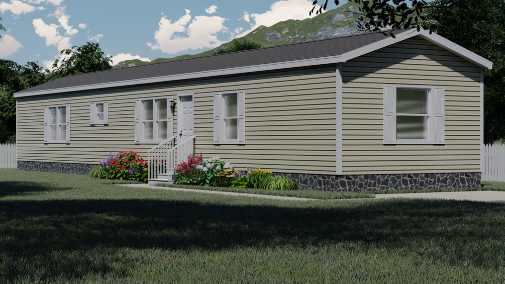 The THE ANNIVERSARY PLUS Exterior. This Manufactured Mobile Home features 3 bedrooms and 2 baths.