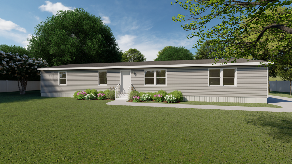 The PRIDE Exterior. This Manufactured Mobile Home features 4 bedrooms and 2 baths.