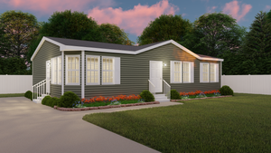 The THE RANDALL Exterior. This Manufactured Mobile Home features 3 bedrooms and 2 baths.