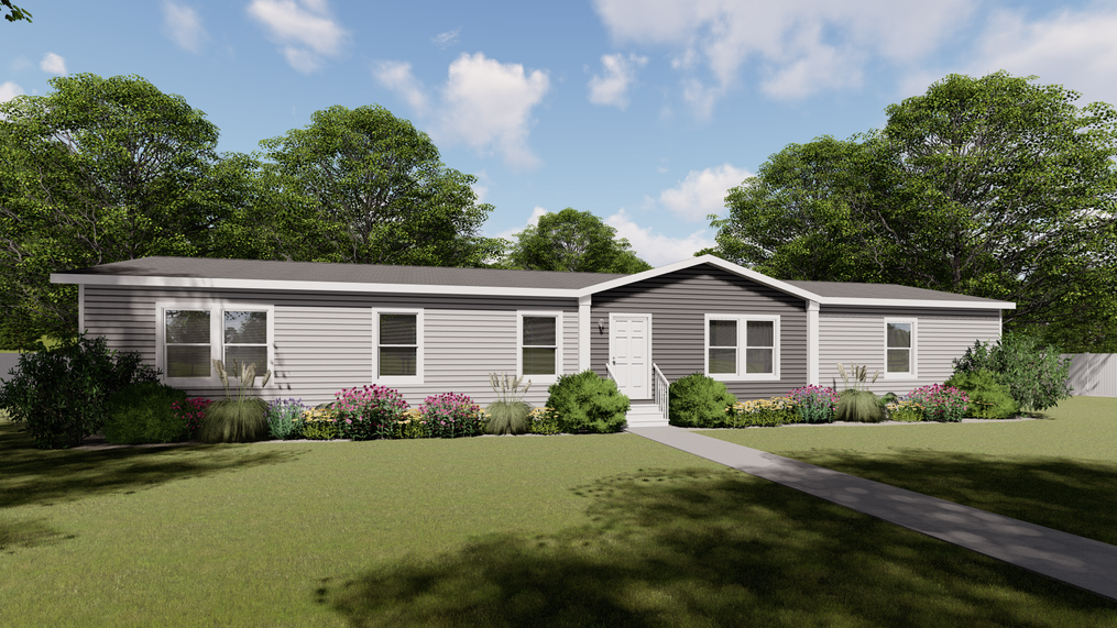 The THE NEW BREEZE II Exterior. This Manufactured Mobile Home features 4 bedrooms and 2 baths.