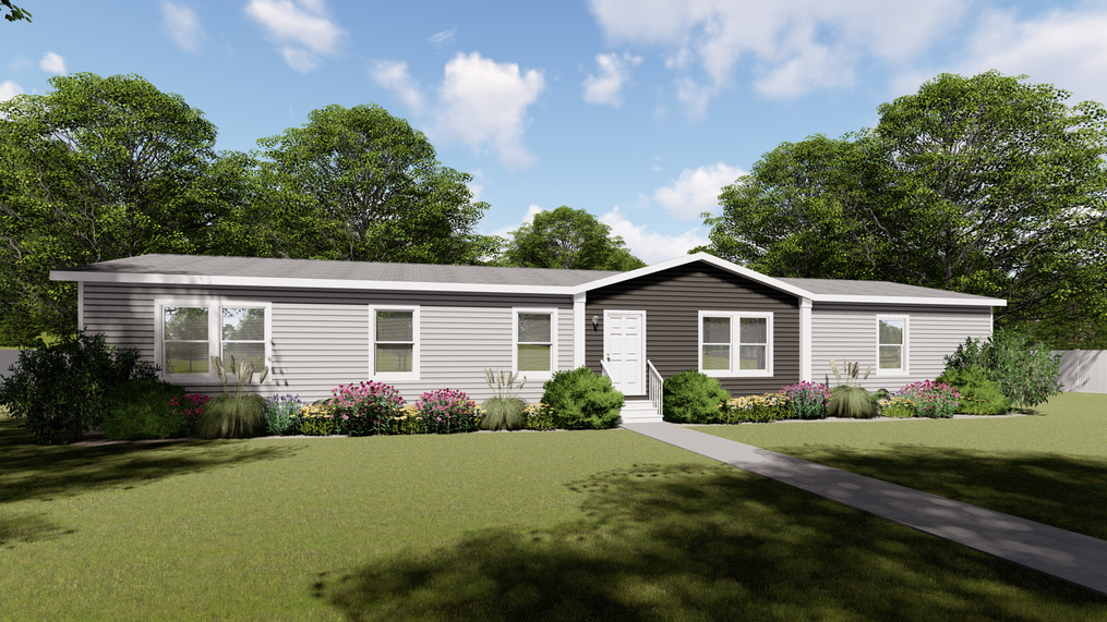 The THE BREEZE II Exterior. This Manufactured Mobile Home features 4 bedrooms and 2 baths.