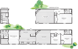 The 101  ADVANTAGE PLUS 7616 Floor Plan. This Manufactured Mobile Home features 3 bedrooms and 2 baths.