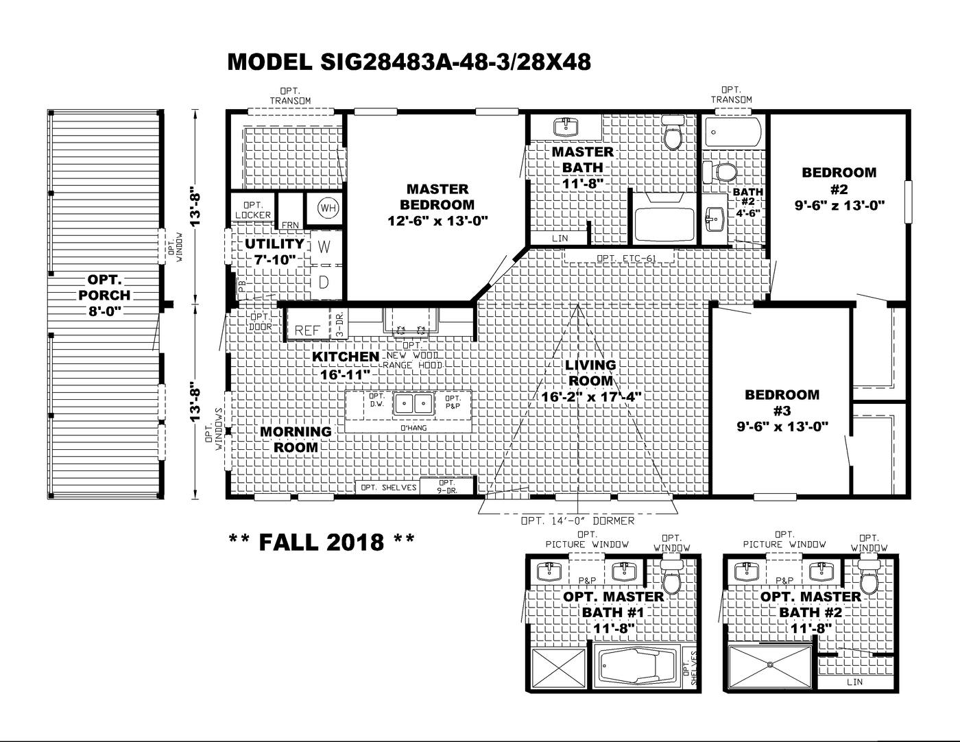 The Southern Farmhouse 28x52 Floorplan