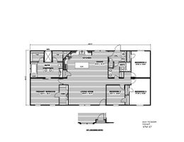 The THE CASCADE Floor Plan. This Manufactured Mobile Home features 4 bedrooms and 2 baths.