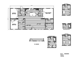 The ISLAND BREEZE Floor Plan. This Manufactured Mobile Home features 3 bedrooms and 2 baths.