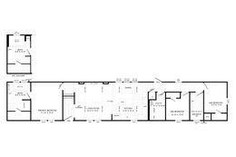 The THE BOBBY JO Floor Plan. This Manufactured Mobile Home features 3 bedrooms and 2 baths.