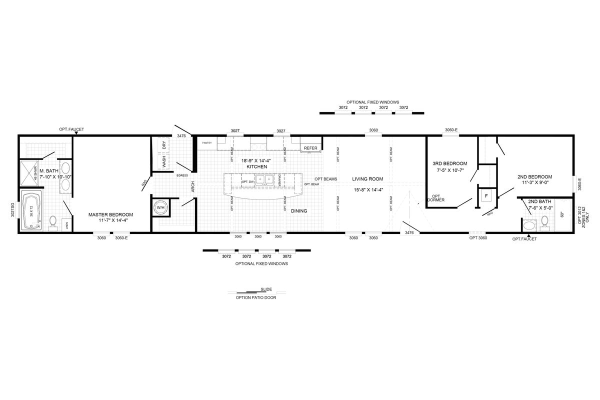 THE DEWEY Floor Plan
