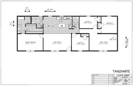 The TANZANITE Floor Plan. This Manufactured Mobile Home features 4 bedrooms and 2 baths.