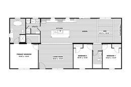 The ISABELLA Floor Plan. This Manufactured Mobile Home features 3 bedrooms and 2 baths.