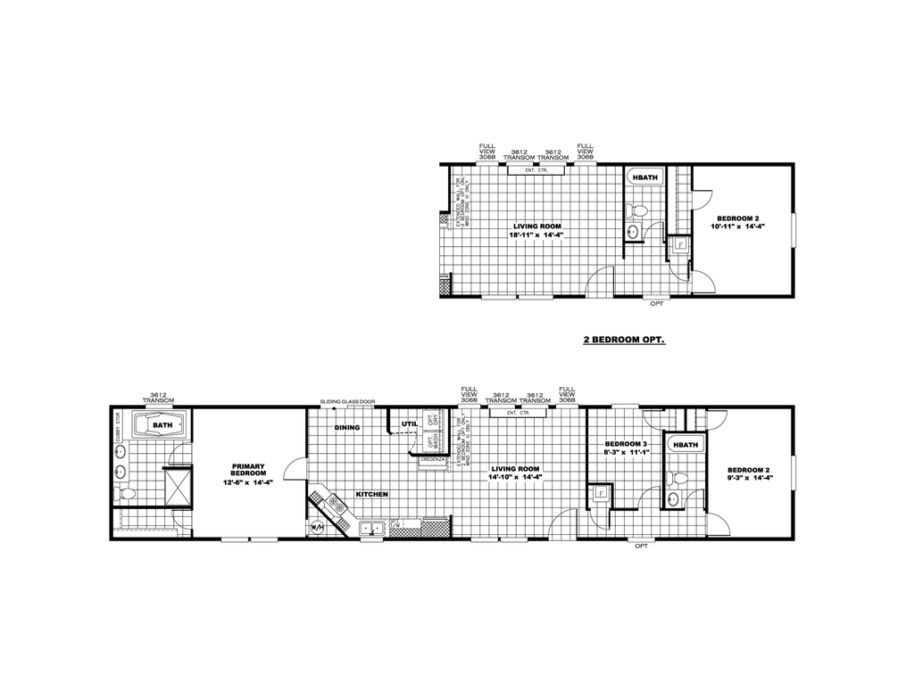 The THE ANNIVERSARY PLUS Floor Plan. This Manufactured Mobile Home features 3 bedrooms and 2 baths.