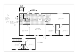 The GARNET Floor Plan. This Manufactured Mobile Home features 3 bedrooms and 2 baths.