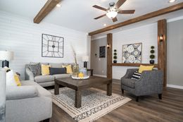 "The 1434 CAROLINA ""SOUTHERN BELLE"" Living Room. This Manufactured Mobile Home features 3 bedrooms and 2 baths."