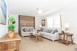 The SANTA FE 684A Living Room. This Manufactured Mobile Home features 4 bedrooms and 2 baths.