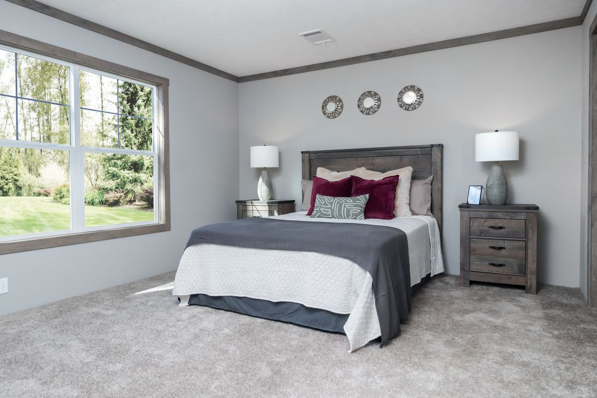 The ISABELLA Master Bedroom. This Manufactured Mobile Home features 3 bedrooms and 2 baths.