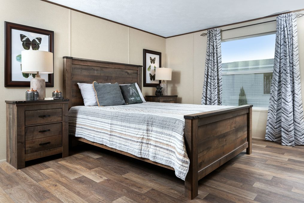 The VICTORY PLUS Master Bedroom. This Manufactured Mobile Home features 3 bedrooms and 2 baths.