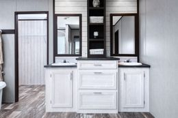 The SIG28663A Master Bathroom. This Manufactured Mobile Home features 3 bedrooms and 2 baths.
