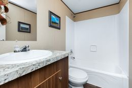 The VICTORY PLUS Guest Bathroom. This Manufactured Mobile Home features 3 bedrooms and 2 baths.