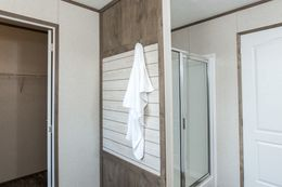 The THE NEW BREEZE II Master Bathroom. This Manufactured Mobile Home features 4 bedrooms and 2 baths.