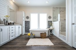 "The 1434 CAROLINA ""SOUTHERN BELLE"" Master Bathroom. This Manufactured Mobile Home features 3 bedrooms and 2 baths."
