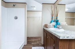The VICTORY PLUS Master Bathroom. This Manufactured Mobile Home features 3 bedrooms and 2 baths.