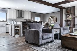 The SIG28663A Living Room. This Manufactured Mobile Home features 3 bedrooms and 2 baths.