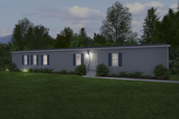 The REVOLUTION 76B Exterior. This Manufactured Mobile Home features 3 bedrooms and 2 baths.