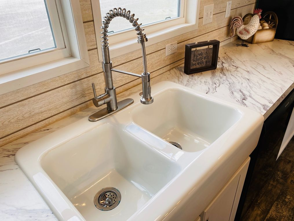 Beautiful farm sink!