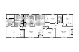 The 3328 CLASSIC Floor Plan. This Manufactured Mobile Home features 4 bedrooms and 2 baths.