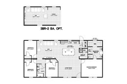 The ANSWER M375 Floor Plan. This Manufactured Mobile Home features 4 bedrooms and 2 baths.