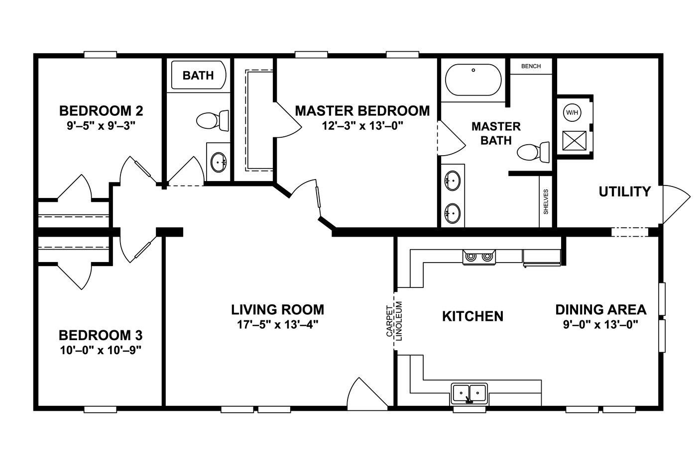 THE BURBANK Floor Plan