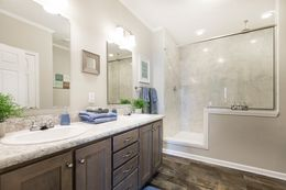 The 3328 CLASSIC Master Bathroom. This Manufactured Mobile Home features 4 bedrooms and 2 baths.