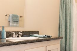 The 3549 JAMESTOWN Guest Bathroom. This Manufactured Mobile Home features 3 bedrooms and 2 baths.